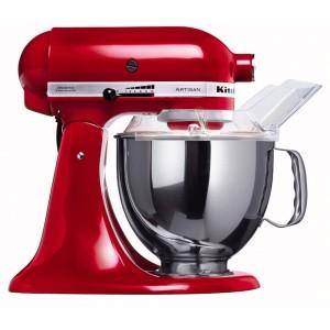 Küchenmaschine mit Fleischwolf KitchenAid Küchenmaschine Artisan rot 5KSM150PSEER